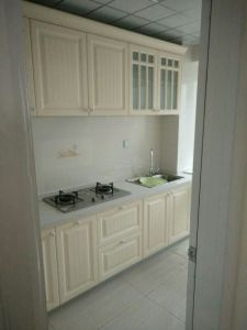 Milky White PVC Kitchen Cabinets pictures & photos