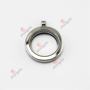 30mm Silver Plain Glass Lockets with Factory Price Wholesale (FC66) pictures & photos