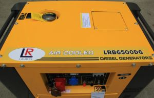 Square Type Silent Diesel Generator Low Oil Alarm 4.5 Kw - 5kw pictures & photos