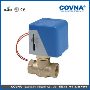DC24V Brass Electric Two Way Valve for Air Conditioner pictures & photos