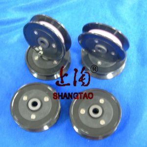 Textile Plastic Ceramic Coil Winding Flanged Wire Guide Pulley (wire roller) pictures & photos