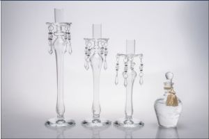 Clear Glass Candle Holder for Wedding Decoration pictures & photos