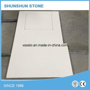 Cheap White Artificial Calacatta Stone Quartz Countertop for Kitchen pictures & photos