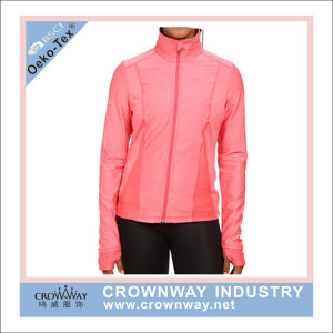 Women Dri Fit Sportswear Gym Fitness Jacket with Thumbhole pictures & photos
