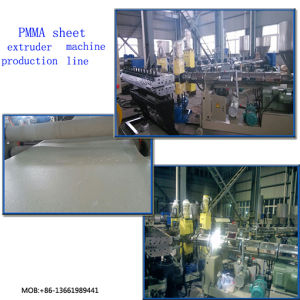 PC, PMMA Optic Sheet Extrusion Line pictures & photos