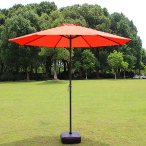 Hot Selling Orange Color Adjustable Garden Sun Umbrella Outdoor Elegant Parasol pictures & photos