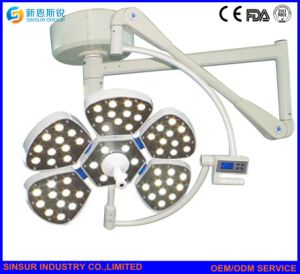 Petal Type Surgical Double Heads Shadowless LED Ceiling Operating Lamp pictures & photos