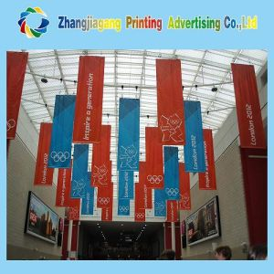 Indoor Hanging Polyester Flag Banner with Pocket Sleeve pictures & photos