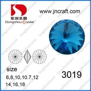 Point Back Rivoli Round Crystal Jewelry Accessories for Dresses pictures & photos