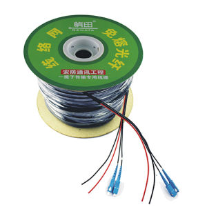 Single Mode 2 Core Fiber Optic Cable & Power Line Combination