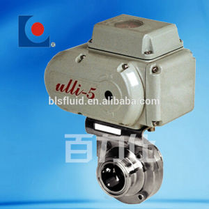 Tri-Clamp Connection Electric pneumatic Butterfly Valve pictures & photos