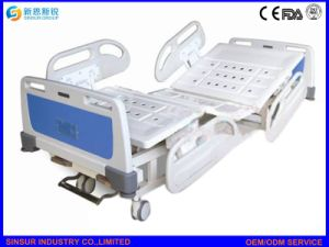 Medical Use Furniture Manual Double Shake ICU/Nursing Hospital Bed pictures & photos