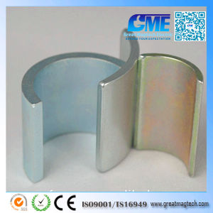Sintered Strong N40sh Permanent NdFeB Arc Neodymium NdFeB Motor Magnet pictures & photos