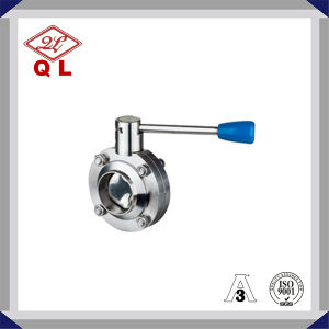 Stainless Steel Food Grade Manual Welded Butterfly Valve pictures & photos