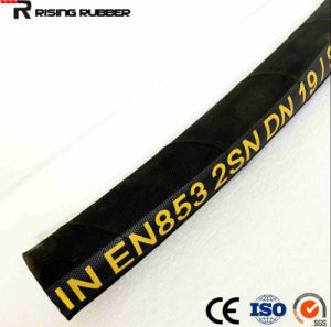 Steel Wire Braided Reinforced Rubber Covered Hydraulic Hose SAE100 R2at/ Rubber Hose pictures & photos