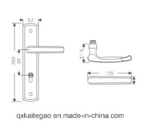 (KTG-8508-011) Satin Finish Hollow Stainless Steel Door Handle on Plate pictures & photos