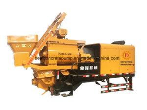 Qjhbt-40c/Qjhbt-50b Diesel & Electric Concrete Mixer Trailer Pump