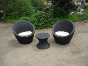 Garden Outdoor Furniture Rattan Lounge Round Sofa Coffee Table (FS-2546+2547) pictures & photos