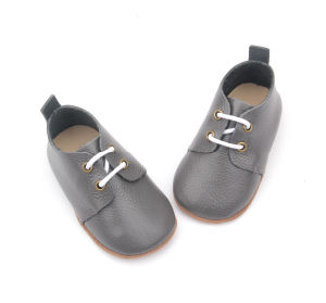 Shoelace Genuine Leather Footwear Children′s Safety Shoes
