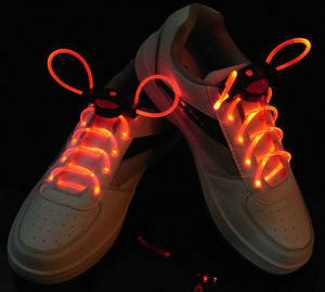 Custom Promotional Flashing LED Shoelace pictures & photos