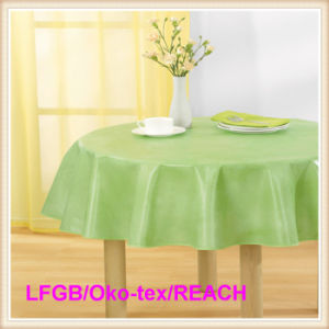 Cheap PVC Plastic Tablecloth Wholesale pictures & photos