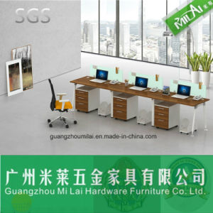 4 Persons Customized Modern Office Workstation with Metal Desk Leg pictures & photos