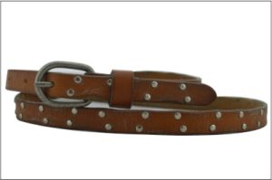 Brown Fashion Stud Lady′s Leather Belt pictures & photos