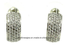 High Quality and Hot Sale 925 Sterling Silver Fashion Ladies Earring E6729 pictures & photos