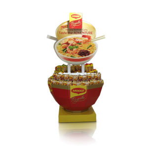 Round Cardboard Display for Food, Stylish Display Stand pictures & photos