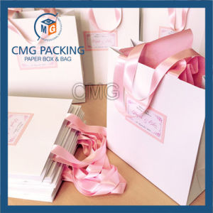 Decorative Gift Paper Bag with High Quality Cheap Grid Printing Manufacturer (DM-GPBB-100) pictures & photos