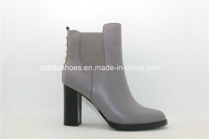 Latest Fashion Design High Heels Leather Lady Boots pictures & photos