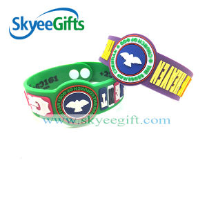 Custom Cute Promotionalcustomer Logo PVC Lovely Wristband pictures & photos
