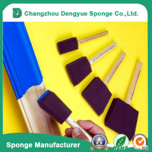 Eco-Friendly Wood Handle Oil Painting Crafts Tools Foam Paint Brush pictures & photos