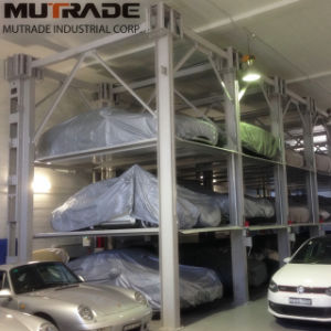 Four Post Hydraulic Car Stacker Parking Lift for Car Storage pictures & photos