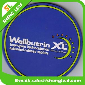 Householder Soft PVC Silicone Coasters in Round Shape (SLF-RC026) pictures & photos