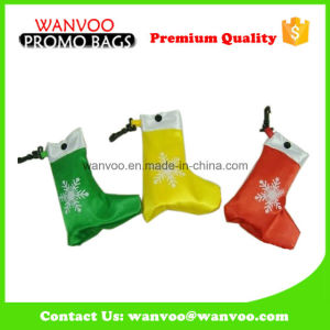Promotional Christmas Advertising Polyester Foldable Shopping Bag pictures & photos