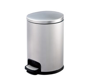 Round Shape Pedal Trash Step Bin for Hotel pictures & photos