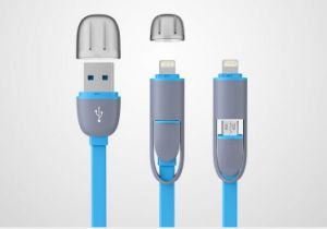 1m 2in1 USB Data Cable for iPhone and Android pictures & photos