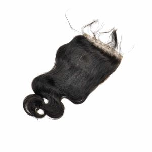 Brazilian Virgin Hair Hand Tied Free Parted Body Wave Lace Closure pictures & photos