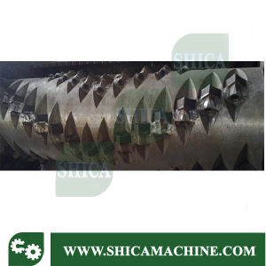 Single Shaft Shredder with Force Feeding for Rigid Plastic Lumps pictures & photos