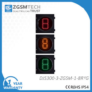 Traffic Counterdown Timer 1 Digital Red Yellow Green 3 Colors Dia. 300mm