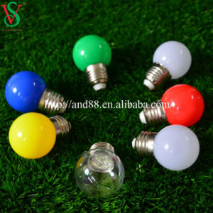 Factory Price Hotsale G45 E27 1W Colorful LED Bulbs for Christmas Decorative pictures & photos