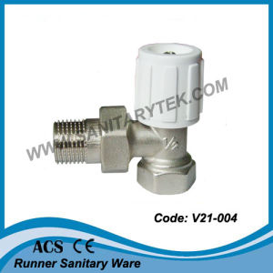 Angle Radiator Valve with Handle (V21-004) pictures & photos