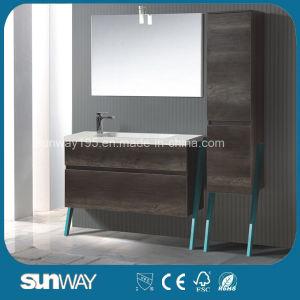 2016 Newest European Melamine Bathroom Cabinet with Mirror pictures & photos