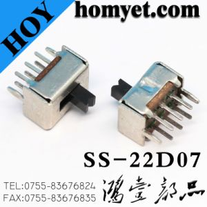 China Factory Supply DIP Type 2p2t Slide Switch/Micro Switch/Toggle Switch pictures & photos