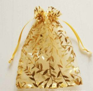 Champagne Organza Drawstring Pouches Suitable for Jewelry Party Wedding pictures & photos
