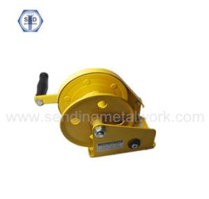1200lbs Hand Winch Crane Yellow Zinc Plated Powder Coated