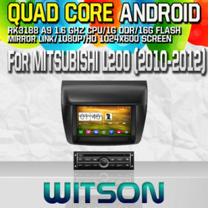 Witson S160 Car DVD GPS Player for Mitsubishi L200 with Rk3188 Quad Core HD 1024X600 Screen 16GB Flash 1080P WiFi 3G Front DVR DVB-T Mirror-Link Pip (W2-M094-1) pictures & photos