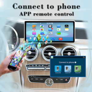 "Carplay Anti-Glare Android 7.1 for 10.25""Benz C GPS Navigation Android Car Stereo pictures & photos"