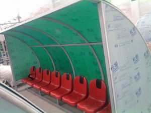 Soccer Player Bench, Dugouts, Football Team Shelters, Public Seating Bench for Sale pictures & photos